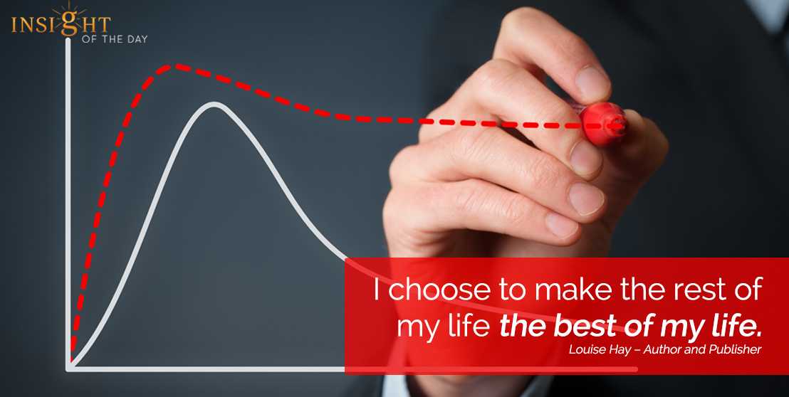 motivational quote: I choose to make the rest of my life the best of my life.