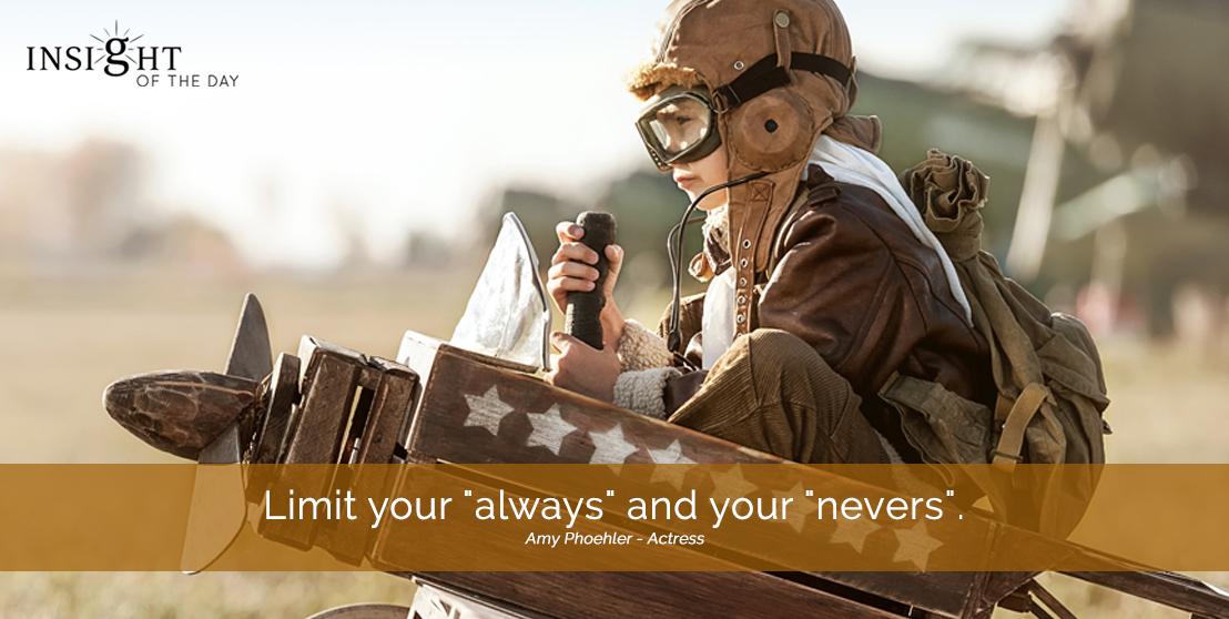 motivational quote: Limit your