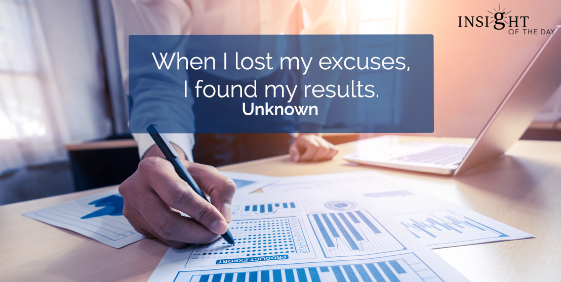 motivational quote: When I lost my excuses I found my results.</p><p>Unknown