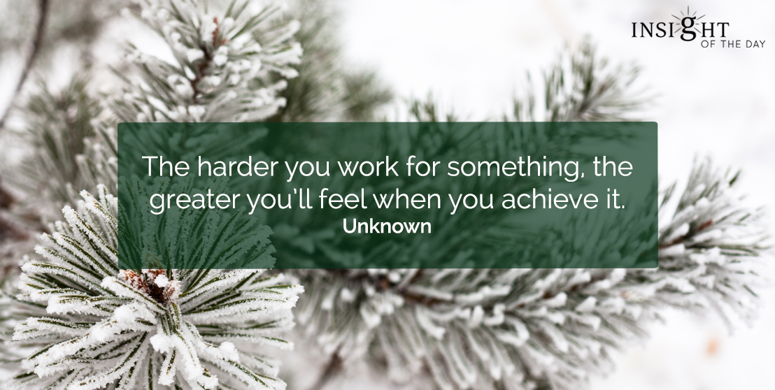 motivational quote: The harder you work for something, the greater you'll feel when you achieve it. Unknown